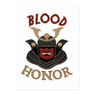 Samurai Armor Blood & Honor Postcard