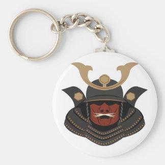 Samurai Armor Basic Round Button Keychain