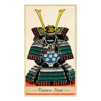 Samurai Armor Ō-yoroi japanese classic art tattoo Business Card