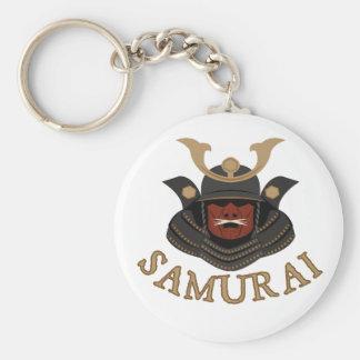 Samurai Armor Samurai Basic Round Button Keychain