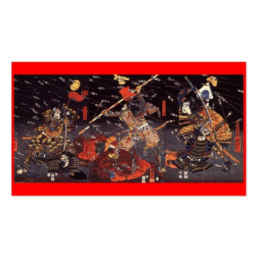 Samurai at War, circa 1800's Business Card. Double-Sided Standard Business Cards (Pack Of 100)