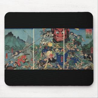 Samurai at war painting circa 1800's mouse pad