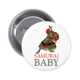 Samurai Baby Pinback Button