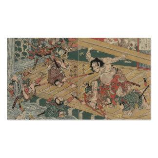 Samurai Battle circa 1813 Business Cards