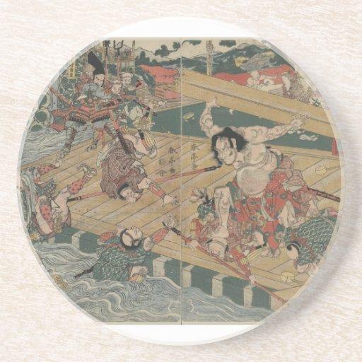 Samurai Battle circa 1813 Coaster