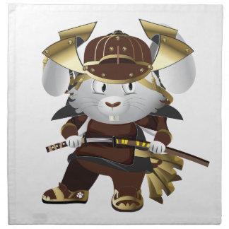 Samurai Bunny Cloth Napkin