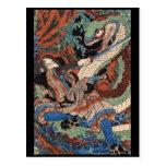 Samurai C. de pintura japonesa 1800's Postales
