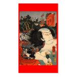 Samurai C. de pintura japonesa 1800's Tarjetas De Visita