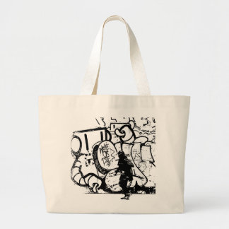 Samurai Caricature Artwork (canvas bag) Large Tote Bag