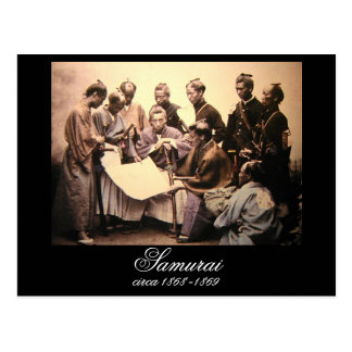 Samurai circa 1868-1869 tarjetas postales