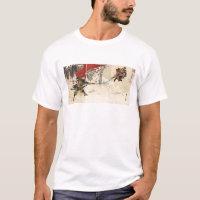 Samurai combat in the snow circa 1890 T-Shirt