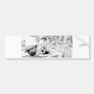 Samurai committing Hara-Kiri Bumper Sticker