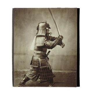 Samurai con la espada aumentada, c.1860 (impresión