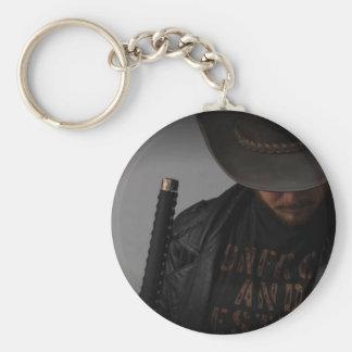 Samurai Cowboy by Me Basic Round Button Keychain