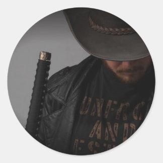 Samurai Cowboy by Me Classic Round Sticker
