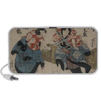 Samurai Crossing Swords circa 1825 Travel Speakers