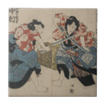Samurai Crossing Swords circa 1825 Tiles