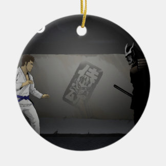 Samurai Damashi  Martial Artist vs Samurai Ceramic Ornament