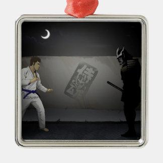 Samurai Damashi  Martial Artist vs Samurai Metal Ornament