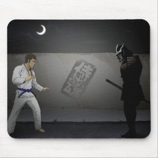 Samurai Damashi  Martial Artist vs Samurai Mouse Pad