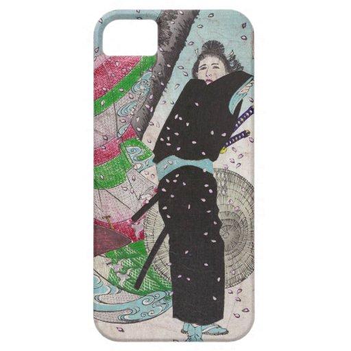 Samurai de la nieve iPhone 5 funda