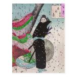 Samurai de la nieve postales