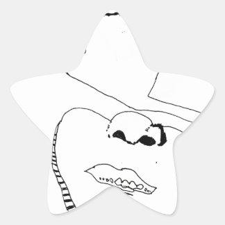Samurai de papel pegatina forma de estrella
