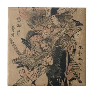 Samurai de sexo femenino potente que derrota al sa azulejos