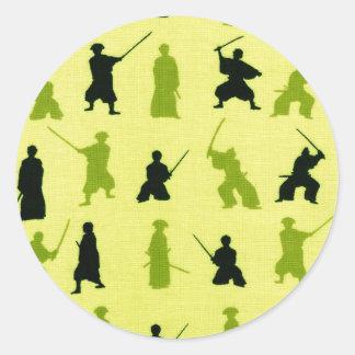 Samurai de Yuji Etiqueta Redonda