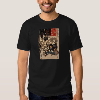 Samurai defeating giant boar c. 1800's t-shirt