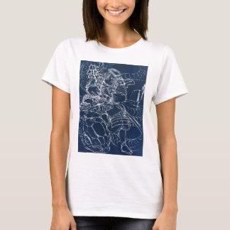 Samurai defeating serpent c. 1800's T-Shirt