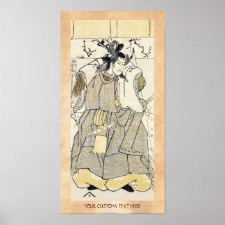 Samurai del actor de Kabuki con Katana y el arco S Posters