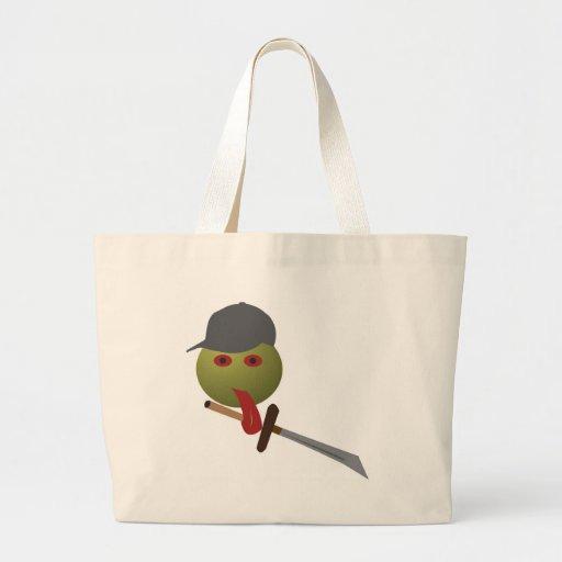 Samurai doido bolsas para compras