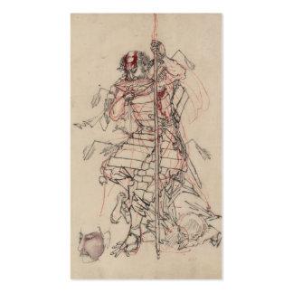 Samurai drinking Sake circa 1800s Business Card Template