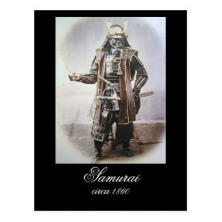Samurai en armadura circa 1860 postal