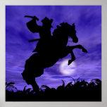 Samurai en caballo poster