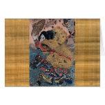 Samurai en camuflaje tarjeta