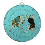 Samurai en duelo tabla dardos