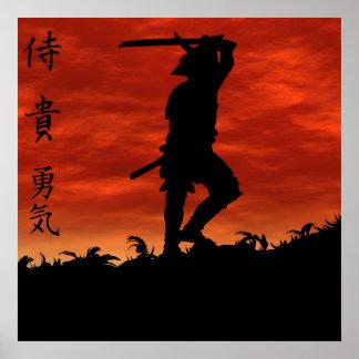 Samurai en la colina posters