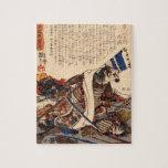 Samurai en la guerra circa 1800s rompecabeza