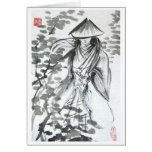 Samurai en la tarjeta en blanco de Forst