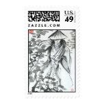 Samurai en sellos del bosque