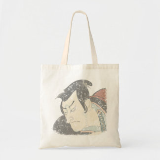 Samurai faded budget tote bag
