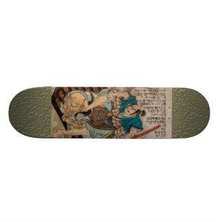 Samurai Fighting A Cyclops Skateboard Deck