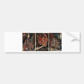 Samurai fighting evil spirit circa 1860 bumper sticker