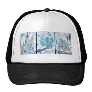 Samurai fighting evil spirit circa 1860 trucker hat