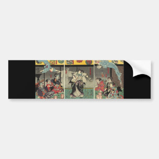 Samurai fighting ghosts and snakes c. 1850 bumper sticker