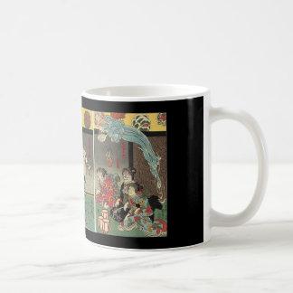 Samurai fighting ghosts and snakes c 1850 mug