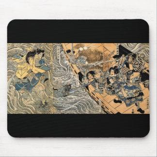 Samurai fighting Ghosts, circa 1800's Mouse Pad