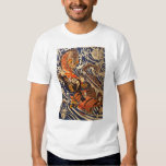 Samurai fighting large reptile, circa 1800's T-Shirt